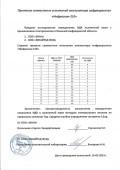 таблица сравнительных испытаний